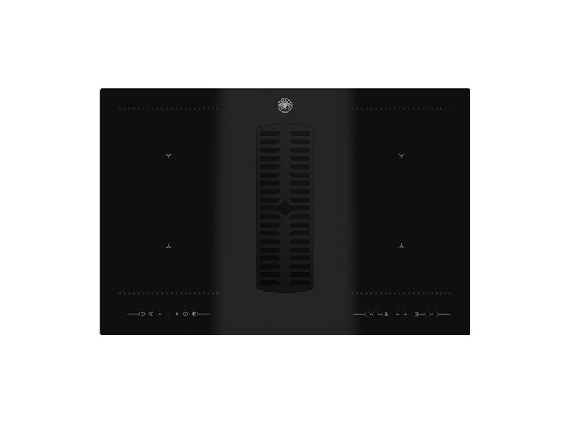 78 cm induction hob with integrated hood | Bertazzoni - Nero