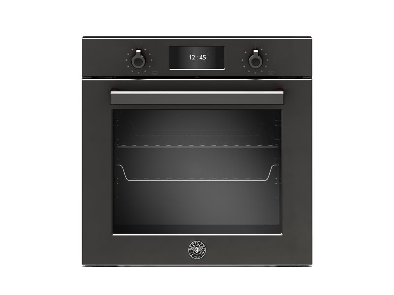 60cm Electric Pyro Built-in Oven, TFT display, total steam | Bertazzoni - Carbonio