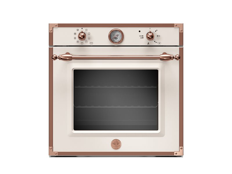 60cm Electric Built-in Oven 9 functions with thermometer | Bertazzoni - Avorio/Copper